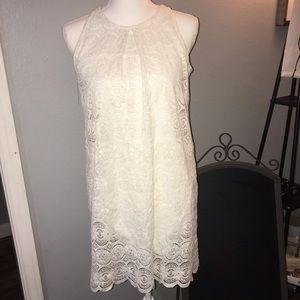 Speckles White Lace Dress SZ S